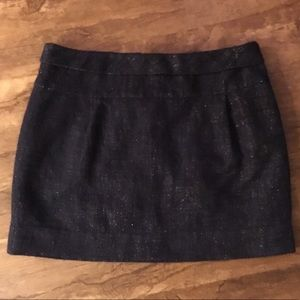 Size 2 J. crew navy sparkly mini skirt